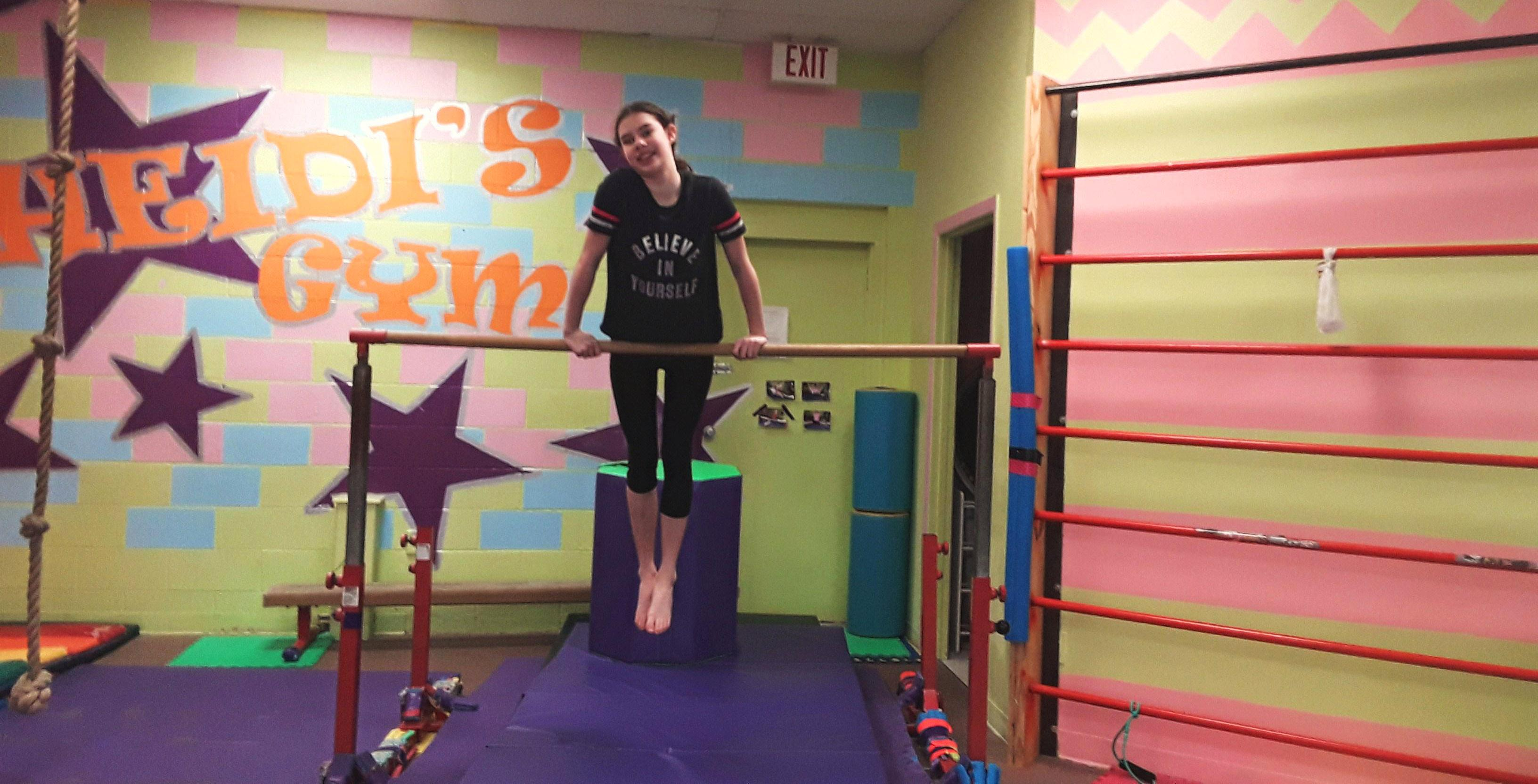 gymnast on bars