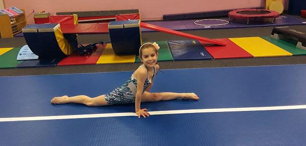 gymnast doing splits